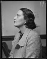Author Baroness Carla Jenssen, Los Angeles, 1933