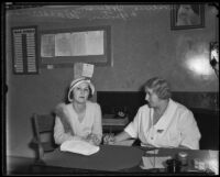 Leontine Johnson beginning her prison sentence for extortion, Los Angeles, 1932