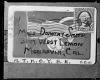 Correspondence on playing cards between Charles Johnston and Dorothy Smith, 1934