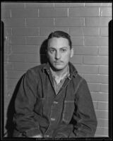 Charles Johnston in prison for the murder of his fiance, Los Angeles, 1934