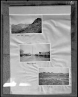 "Court document in the form of photographs of an area near an oil field near Beatty, Nevada, operated by Julian Petroleum Corporation, labeled ""Beatty,"" Nevada, circa 1926"