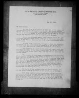 Letter from C. C. Julian of the New Monte Cristo Mining Co. to its stockholders dated 21 May 1929, probably photographed 1929-1933