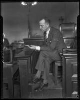 C. C. Julian in court, Los Angeles, 1926-1933