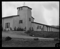 Exterior view of the K. W. Kellogg Arabian Horse ranch, Pomona, 1932