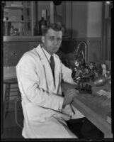 Portrait of UCLA professor Dr. John F. Kessel, Los Angeles, 1927-1939