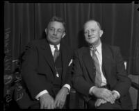 William Whitwell and retired Detective Lieutenant E. C. King, Los Angeles, 1934