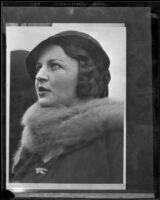 Lady Mary Kingsford-Smith, wife of famous Australian aviator Sir Charles Kingsford-Smith, 1930-1937
