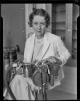 Dr. Emma Kittredge in her laboratory, Los Angeles, 1934
