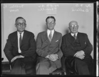Doctors Allan N. Kerr, William H. Thearle, and F. D. Bullard, Los Angeles, 1930-1936