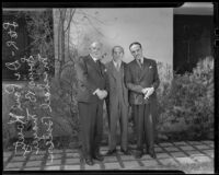 Dr. Paul Koretz, Louis B. Mayer, and Michael Balcon meet, Los Angeles, 1935