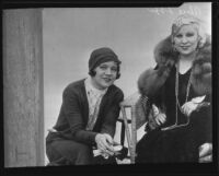 Actresses Alice Lake and Mae West at Paramount Studios, Hollywood, 1933