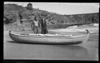 Dana and Ginger Lamb prepare to travel the Pacific Ocean, Laguna Beach, 1933
