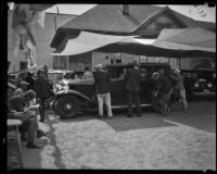 Car washing sponsored by the Layne Foundation, Los Angeles, 1932
