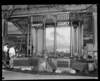 Orange County booth at the Los Angeles County Fair, Pomona, 1929