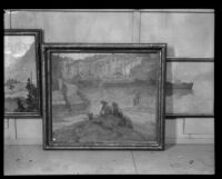 Paintings displayed at the Los Angeles County Fair, Pomona, 1929