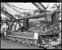 Orange County display at the Los Angeles County Fair, Pomona, 1933