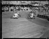 Children race go-karts at the Los Angeles County Fair, Pomona, 1933