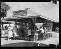 Federation of Women's Clubs hamburger stand at the Los Angeles County Fair, Pomona, 1932