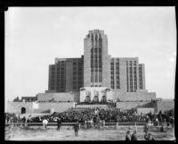 Los Angeles County General Hospital dedication ceremony, Los Angeles, [1934]