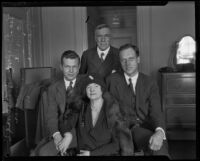 George Horace Lorimer with his wife Alma and their sons George Burford and Graeme, Los Angeles, 1928