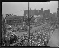 Thousands gather for State Building dedication ceremony, Los Angeles, 1932
