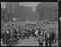 Groundbreaking ceremony for State Building on Spring and First streets, Los Angeles, 1930