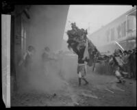 Chinese New Year Lion Dance in Chinatown, Los Angeles, 1928