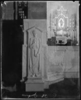 Relief sculpture of St. John by Salvatore Cartiano Scarpitta in St. John's Episcopal Church, Los Angeles, circa 1925-1939