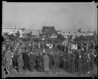 Ground breaking ceremonies for the Wilshire Boulevard Congregational Church, Los Angeles, 1924