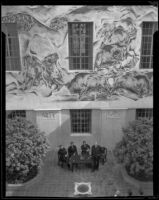 Bison Hunt fresco by Charles Kassler Jr. at the Los Angeles Central Library, Los Angeles, 1934