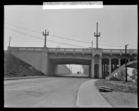 New bridge at Lorena and Fourth Street, Boyle Heights, ca. 1928