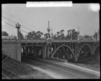 New bridge on Lorena and Fourth Street, Boyle Heights, ca. 1928