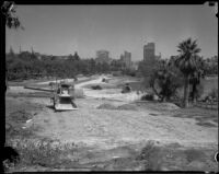 Extension of Wilshire Boulevard through Westlake Park, Los Angeles, 1934