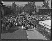 Los Angeles Junior College graduation ceremony, Los Angeles, 1933