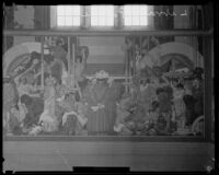 Dean Cornwell's mural in the Los Angeles Central Library rotunda, Los Angeles, 1933