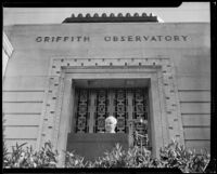 Robert A. Millikan, Chair of the Executive Council at Caltech, speaking at the dedication of the Griffith Observatory, Los Angeles, 1935