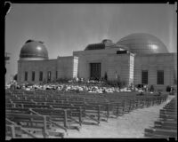 Ceremony at the Griffith Observatory, perhaps the opening and dedication, Los Angeles, 1935