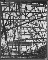 Dome under construction at the Griffith Observatory, Los Angeles, circa 1933-1934