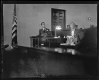 Paul Kelly on the witness stand, Los Angeles, 1927