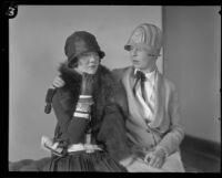 Helen Wilkinson comforts Dorothy Mackaye, Los Angeles, 1927