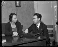 Nellie May Madison with her attorney Joseph Ryan, Los Angeles County, 1934