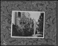 Rear entrance to Nellie and Eric D. Madison's apartment (copy), Burbank, 1934