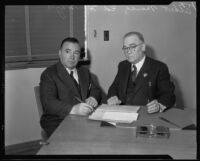 Albert Marco meets with his parole officer Ed H. Whyte, Los Angeles, 1933