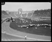 Children perform at the Coliseum for May Day, Los Angeles, 1926