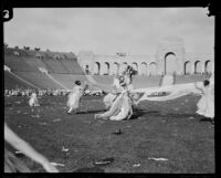 Girls perform a May Day dance at the Coliseum, Los Angeles, 1926