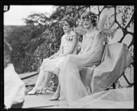 May Day Queen Allison Saunders and her maid of honor Billie Gygerson, Los Angeles, 1926