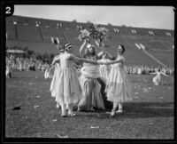 Five young girls celebrate May Day at the Coliseum, Los Angeles, 1926