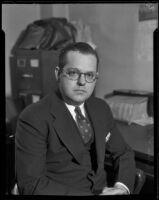 Charles F. Mayes is accused of manslaughter, Los Angeles County, 1932