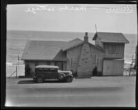 Beachside cottage where Aimee Semple McPherson stayed while recuperating, Malibu, 1930