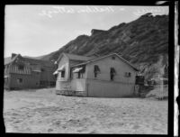 Beach house where Aimee Semple McPherson stayed while recuperating, Malibu, 1930